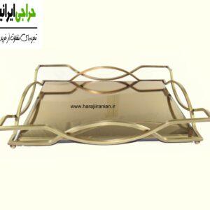 سینی پذیرایی آبکاری شده آینه ای A120