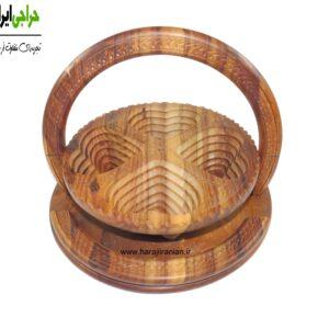 آجیل خوری چوبی تاشو طرح قلب