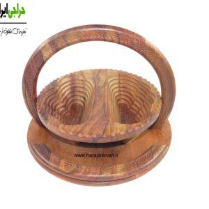 آجیل خوری چوبی تاشو طرح پروانه ای