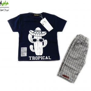 تی شرت شلوارک پسرانه کاکتوس 706