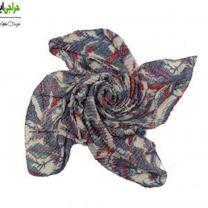 روسری کرپ حریر پلیسه کد 122
