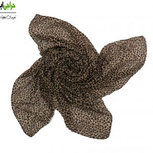 روسری کرپ حریر پلیسه پلنگی 128