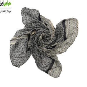 روسری کرپ حریر پلیسه کد 129